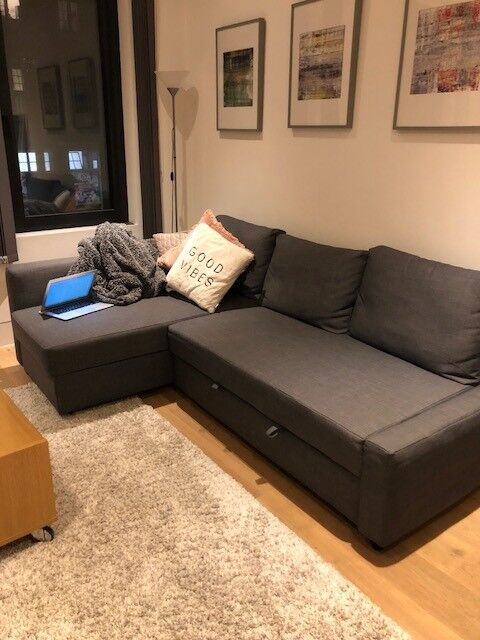 Ikea Friheten Sectional Sofa Converts In To Bed