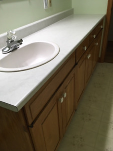 Counter top, bathroom tap attached - SUSSEX NB