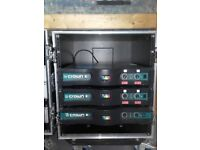 3 x Crown K2 power amp