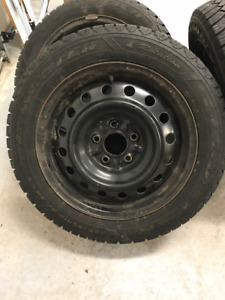 Winter Tires on Steel Rims, 205/55R16