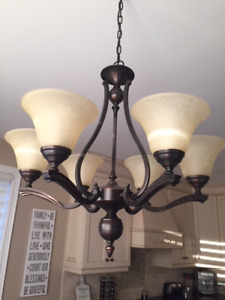 New Chandelier with Pendant Lights