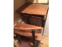 Old school desk.