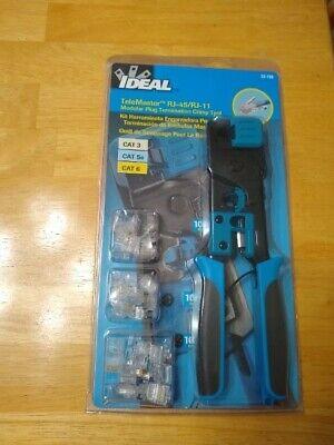 Ideal 33-700 Telemaster Rj-45rj-11 Kit Modular Plug Termination Crimp Tool