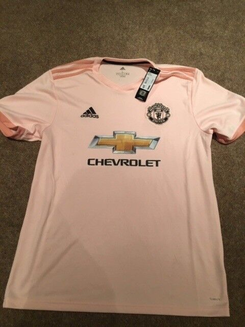 brand new d1aae dee3e 100% genuine, authentic Mens pink Manchester United FC shirt, 2018/2019,  Large | in York, North Yorkshire | Gumtree