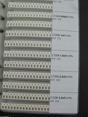 1206 Smd Smt Capacitor Assortment Book Kit 38 Valueseach 50pcs Total 1900pcs