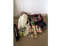Cricket Gear - almost brand new - excellent condition