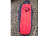 Indoor sleeping bag Mountain Equipment with stuff sack, working zip and straps £10.00