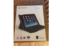 Ipad Air Logitech Protective Case and Integrated Keyboard