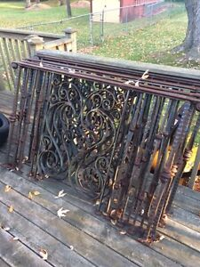 WROUGHT-IRON HAND MADE INDUSTRIAL RUSTIC RAILINGS DECORATIVE