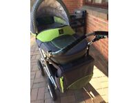 As new 2 in 1 immaculate pram & pushchair only used several times