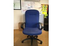 High Back Executive Managers Chairs in Blue X 4