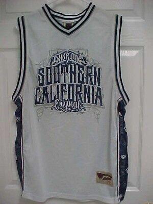 81d2f89b743 SOUTHERN CALIFORNIA ORIGINAL Men White Mesh Basketball Jersey Shirt L DYSE