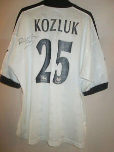 Match-Worn-Rob-Kozluk-Derby-1997-1998-Signed-Home-Football-Shirt-with-COA-16478