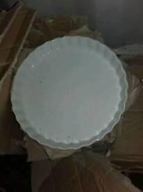 Flan, pie dishes