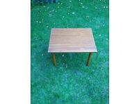 Retro formica coffee table - very cute 38cm x 48cm x 34cm high