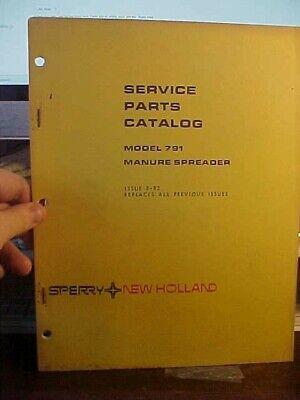 Nh Service Parts Catalog - Manure Spreader 1j