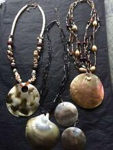 Jewellery from Fiji - 2 x Necklace & 1 Necklace & Earring Set Woodville Gardens Port Adelaide Area Preview