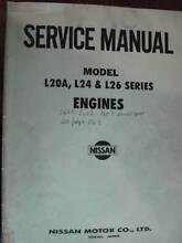 NISSAN L20A, L24, L26 SERIES ENGINES WORKSHOP SERVICE MANUAL 1972 Dianella Stirling Area Preview
