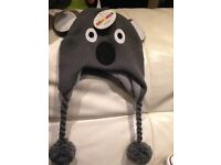 Cute Koala Hat and Mittens Set - Ages 2-5 years. **Great Xmas gift**