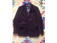 """Mens Dark Brown Corduroy Blazer Jacket 38"""""""