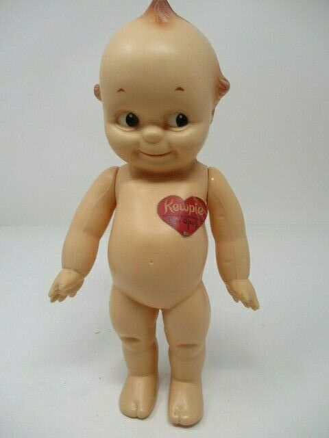 Vintage KEWPIE Jointed Doll w/Heart & Wings by Rose O'Neill