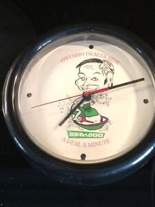 VINTAGE SEA DOO DEALER ADVERTISING CLOCK $45