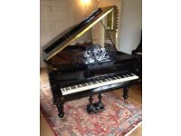 Bluthner 6'3'' aliquot reconditioned Grand Piano (1882) in polished ebony