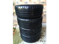 Tyres - 4 nearly new Dunlop Sport Maxx RT 225/45 R17 91W