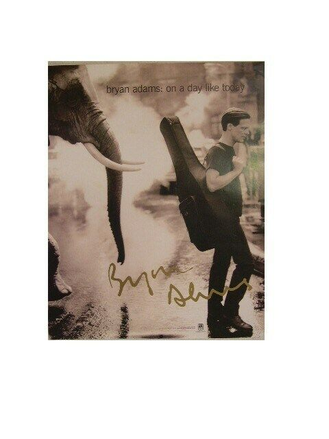 Bryan Adams Poster On A Day Like Today Elephant