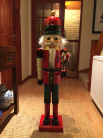 Large Christmas Nutcracker 40 inches High with small Nutcracker attached, good condition,