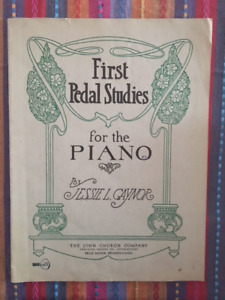 First PEDAL Studies for the piano, Jessie L Gaynor, John Church