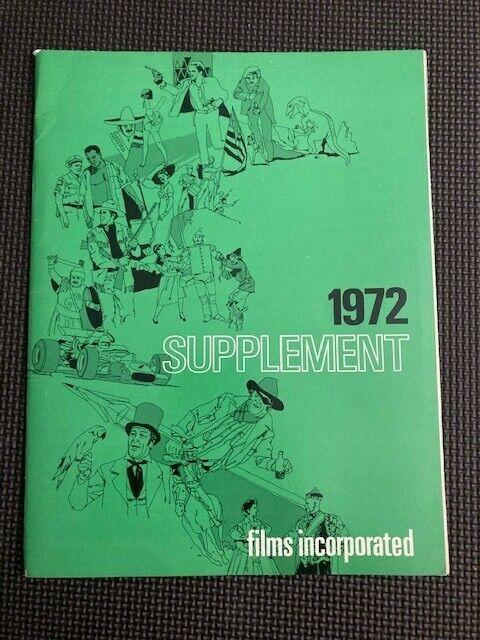 "Vintage 1972 FILMS INCORPORATED 16MM FILM MOVIE CATALOG ""Cinevents"""