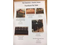 Small & large household items for sale due to flat clearance.