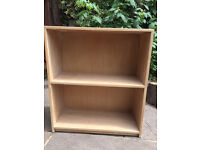 """Lovely old Solid Ash Bookcase. Unpainted. Not collapsable. 30"""" wide. 34"""" high. 12"""" deep."""