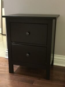 IKEA HEMNES nightstand (black brown, excellent and clean cond.)