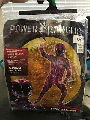 Power Rangers Pink Ranger Halloween Child Costume Medium New!