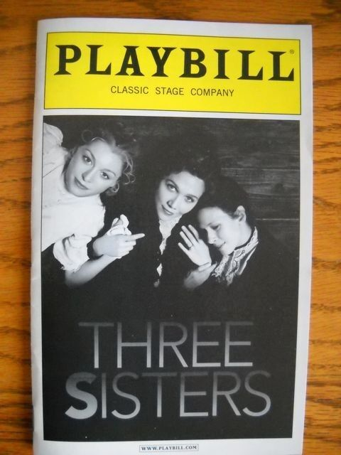 Three Sisters New Playbill Maggie Gyllenhaal Peter Sarsgaard  Jessica Hecht 2011