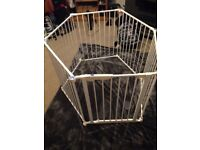 LINDAM PLAY PEN - WHITE METAL and DOUBLE LOCKING