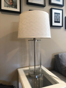 Clear glass/brushed nickel lamp