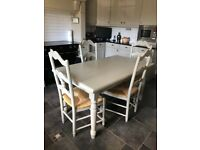 Kitchen table & 4 chairs in grey