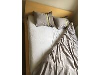 Good Deal! Bed Frame (IKEA Malm) and foam mattress (SULTAN)