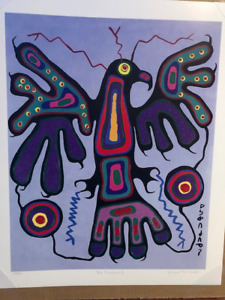 Blue Thunderbird - Norval Morrisseau ltd. edition numbered print
