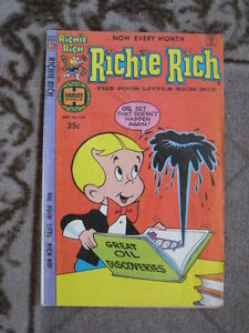 Various Richie Rich Comics from Harvey Publications.