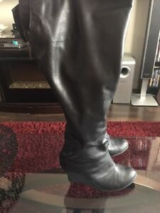 Wedge Boots that zip up the back