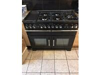 Near New RANGEMASTER Excel 110 Dual Fuel Range Cooker - Black & Chrome