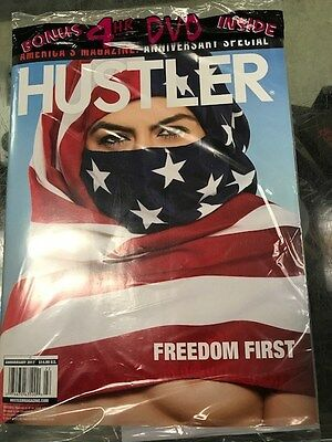 HUSTLER MAGAZINE ANNIVERSARY 2017 FLAG HIJAB Brand New Sealed XXX DVD Included