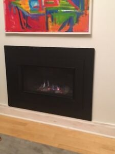 Like-new Valor gas fireplace
