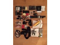 GoPro Hero 3+ Black: Accessories (including Official Pole&Remote)+2 New (never used) extra batteries