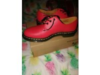 Brand new red Dr martens shoes size 8 for men with box
