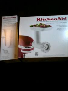 KitchenAid  food grinder attachment and Sausage stuffer kit